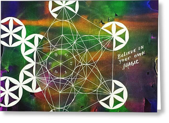 Sacred Drawings Greeting Cards - Believe in your own Magic #27 Greeting Card by Christopher Grant