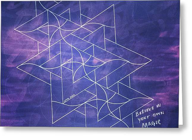 Sacred Drawings Greeting Cards - Believe in your own Magic #5 Greeting Card by Christopher Grant