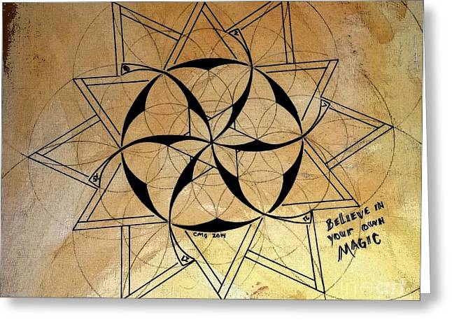 Sacred Drawings Greeting Cards - Believe in your own Magic #8 Greeting Card by Christopher Grant