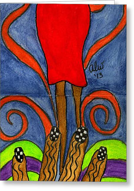 Survivor Art Greeting Cards - Believing I CAN Greeting Card by Angela L Walker