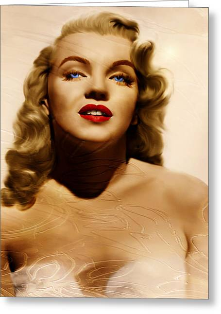 Norma Jean Greeting Cards - Believing Norma Jean Greeting Card by Pamela Phelps