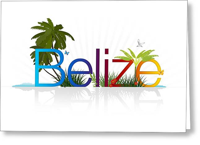 Flight Drawings Greeting Cards - Belize Greeting Card by Aged Pixel