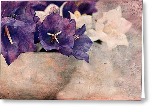 Close Focus Floral Greeting Cards - Bell Flowers Greeting Card by Maria Angelica Maira