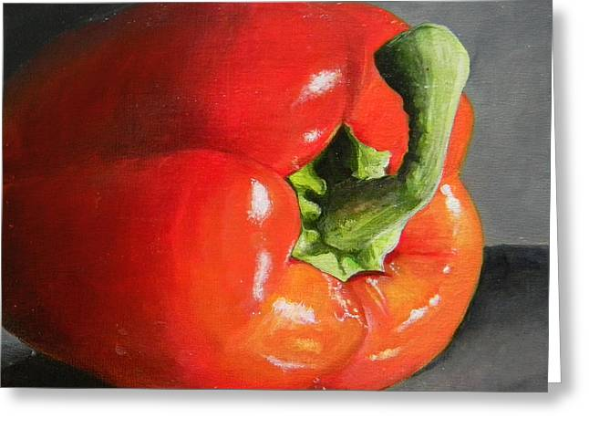 Bell Greeting Cards - Bell Pepper Mini Greeting Card by Steve Goad