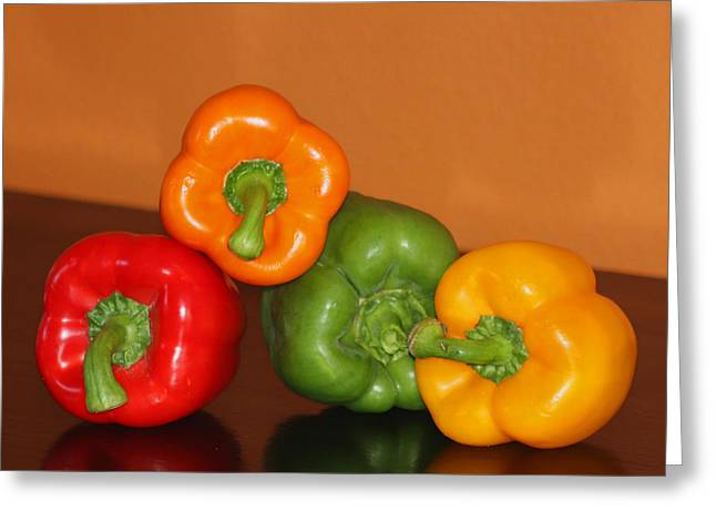 Kitchen Photos Photographs Greeting Cards - Bell Pepper Still Life Greeting Card by Art Block Collections