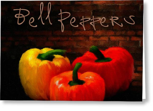 Onion Greeting Cards - Bell Peppers II Greeting Card by Lourry Legarde