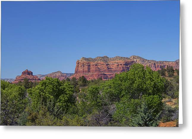 Monolith Greeting Cards - Bell Rock and Courthouse Butte Greeting Card by Marianne Campolongo