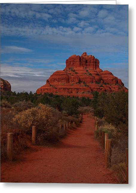 Oak Creek Greeting Cards - Bell Rock Greeting Card by James Peterson