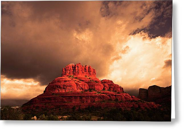 Bell Rock Greeting Card by Tom Kelly