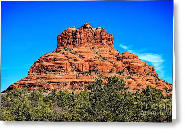 Best Sellers -  - Oak Creek Greeting Cards - Bell Rock Tower Greeting Card by Jon Burch Photography