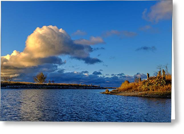 Golden Bell Greeting Cards - Bell Slip Sunrise Greeting Card by Chris Bordeleau