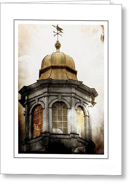 Medieval Temple Greeting Cards - Bell Tower Greeting Card by Marcia Lee Jones