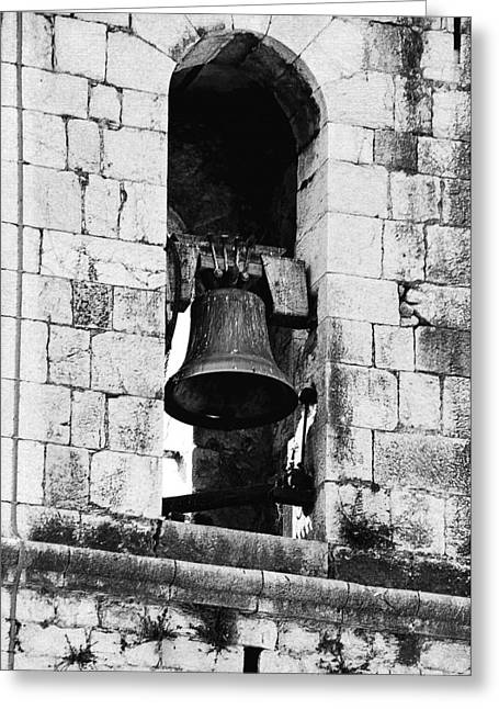 Unique Photographs Greeting Cards - Bell Tower Valbonne Abbey Greeting Card by Christine Till