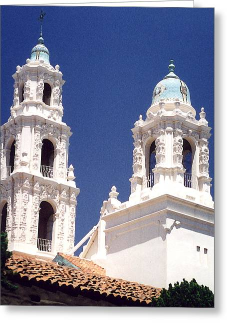 Best Sellers -  - Catherine White Greeting Cards - Bell Towers Greeting Card by Mary Bedy