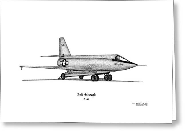 Deployment Prints Greeting Cards - Bell X-2 Greeting Card by Arthur Eggers