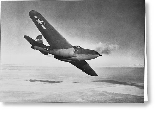 2nd Base Greeting Cards - Bell XP-59A Airacomet, 1942 Greeting Card by Science Photo Library