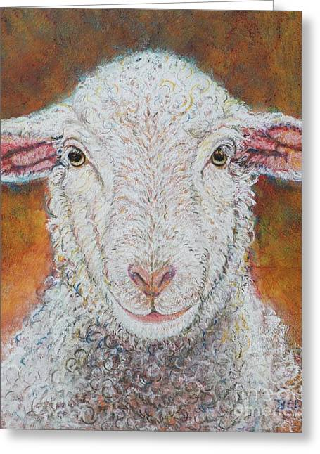 Farm Animals Pastels Greeting Cards - Bella at Snickerhaus Farm Greeting Card by Christine Belt