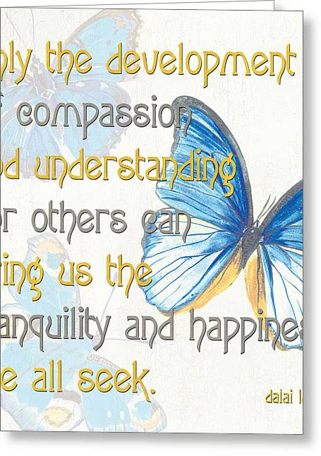 Happiness Quotes Greeting Cards - Bella Butterflies 1 Greeting Card by Debbie DeWitt
