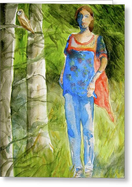 Clothed Figure Greeting Cards - Bella Emerges Greeting Card by Beverley Harper Tinsley