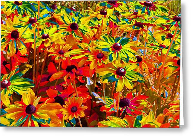 Brown Eye Susan Greeting Cards - Bella Flora Painting Greeting Card by Will Borden