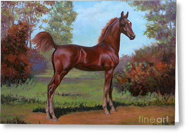 American Saddlebred Greeting Cards - Bella Greeting Card by Jeanne Newton Schoborg