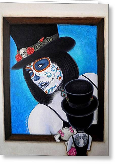 Bella Muerte A Work Of Art Greeting Card by Al  Molina