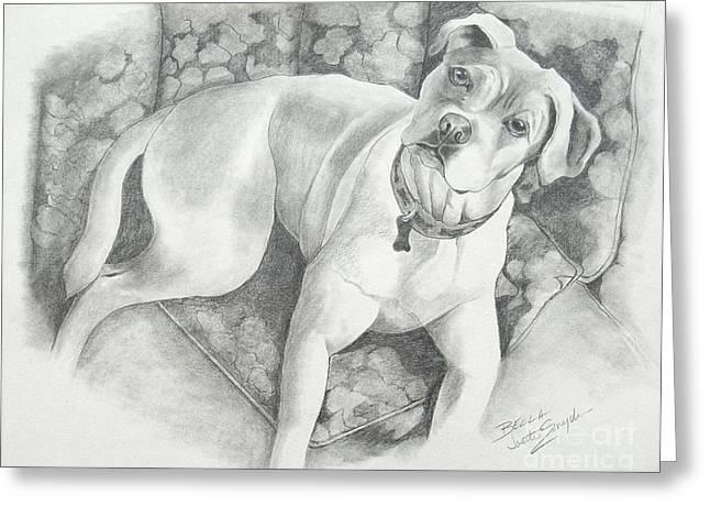 Bella My Pup Greeting Card by Joette Snyder