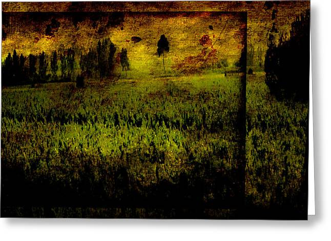 Vineyard Landscape Mixed Media Greeting Cards - Bella Solitude Greeting Card by Stacy Tonozzi