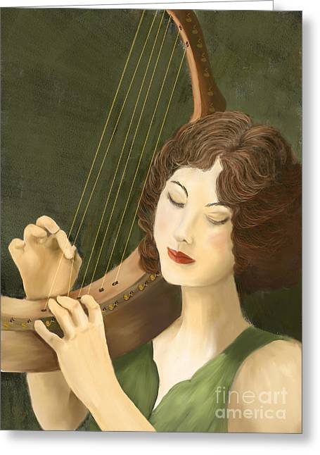 Playing Musical Instruments Greeting Cards - Bella Greeting Card by Sydne Archambault