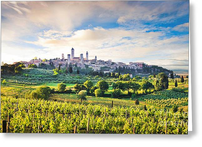 Tuscan Hills Greeting Cards - Bella Toscana Greeting Card by JR Photography