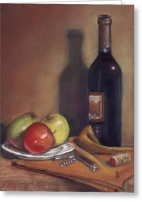Sonoma Pastels Greeting Cards - Bella Wine Tasting Greeting Card by Ellen Minter