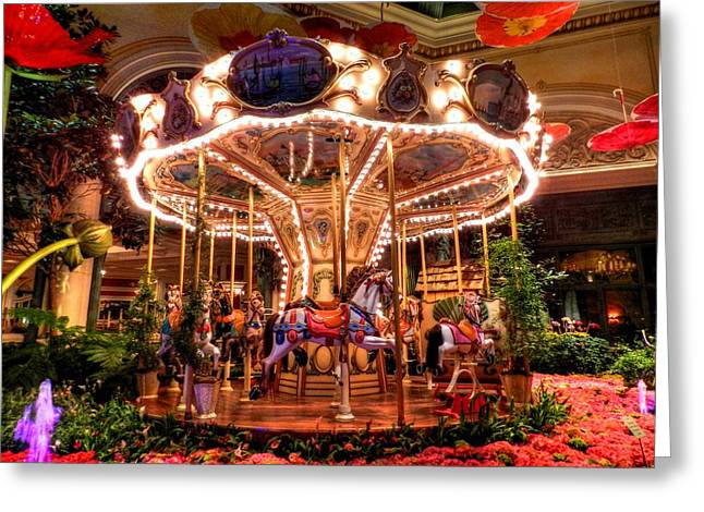 Carousel Greeting Cards - Bellagio 003 Greeting Card by Lance Vaughn