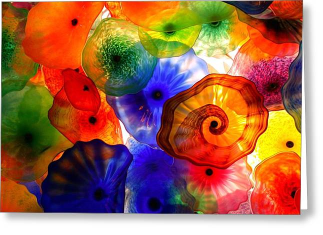 Vince Greeting Cards - Bellagio Ceiling Greeting Card by Vince McCall