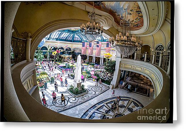 Bellagio Greeting Cards - Bellagio Conservatory and Botanical Gardens Greeting Card by Edward Fielding