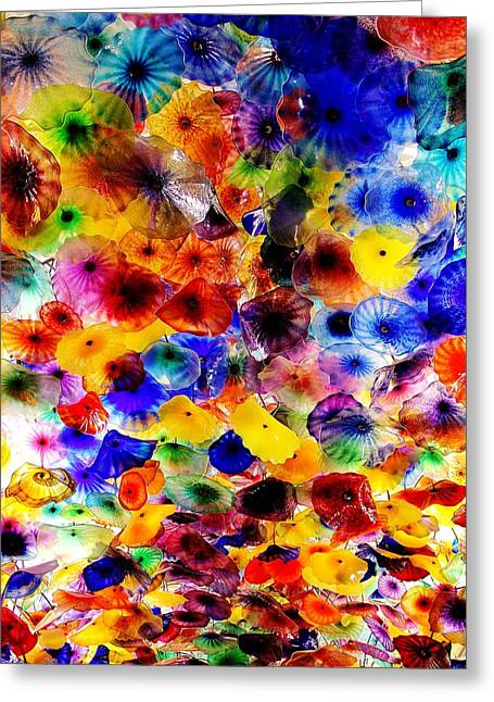 Yeager Greeting Cards - Bellagio Garden of Glass Greeting Card by Benjamin Yeager