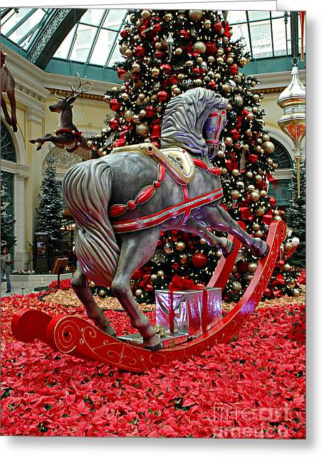 Mike Nellums Greeting Cards - Bellagio Hobby Horse Greeting Card by Mike Nellums