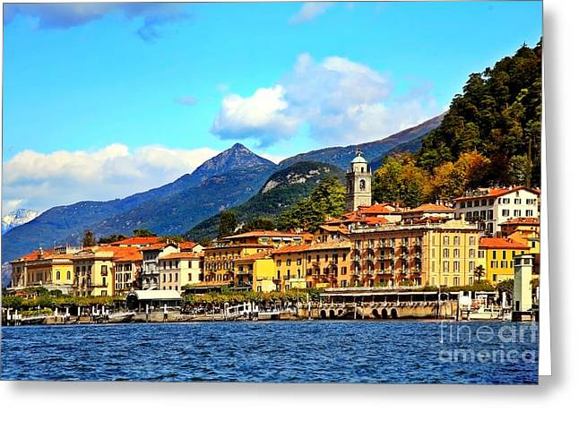 Bellagio Greeting Cards - Bellagio on Lake Como Greeting Card by Kate McKenna