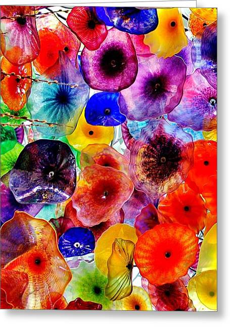 Glass Ceiling Greeting Cards - Bellagios Phone Greeting Card by Benjamin Yeager