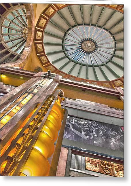 Mexico City Greeting Cards - Bellas Artes Interior Greeting Card by John  Bartosik
