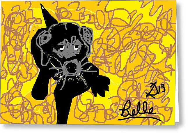 Belle Greeting Card by Anita Dale Livaditis