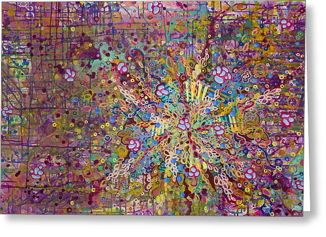 Microscopic Art Greeting Cards - Belle Cell Greeting Card by Angela Canada-Hopkins