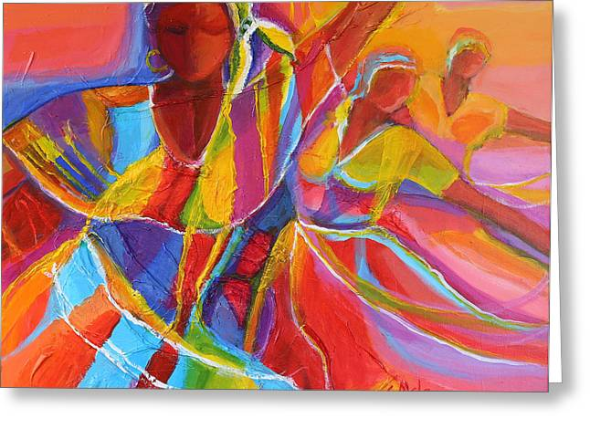 Mclean Greeting Cards - Belle Dancers Greeting Card by Cynthia McLean