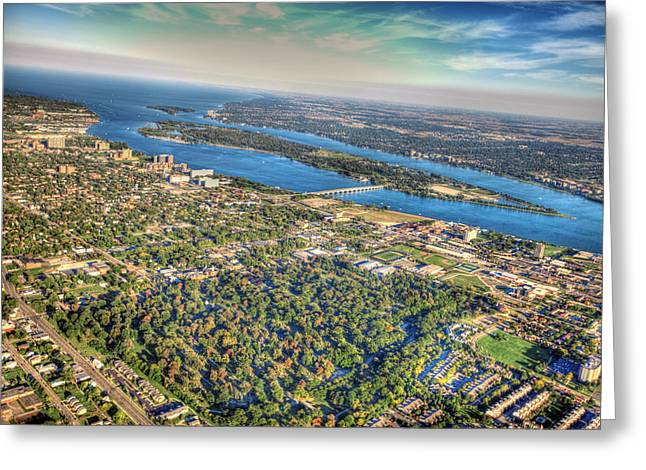 Belle Isle Greeting Cards - Belle Isle From Twenty Five Hundred Feet Greeting Card by B And G Art