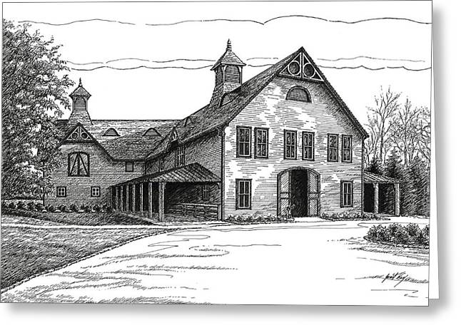 Belles Drawings Greeting Cards - Belle Meade Plantation Carriage House Greeting Card by Janet King