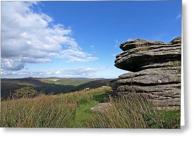 Gills Rock Greeting Cards - Bellever Tor on Dartmoor Greeting Card by Gill Billington