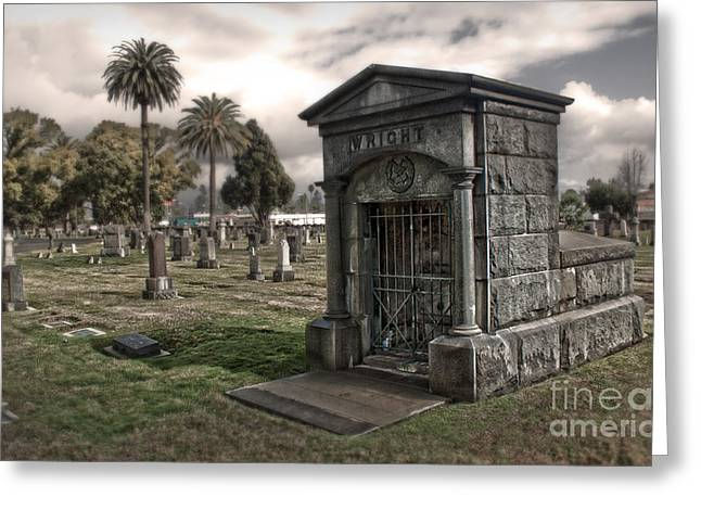 Bellevue Cemetery Greeting Card by Gregory Dyer