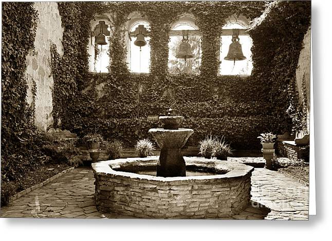 In 1812 Greeting Cards - Bells at Mission San Juan Capistrano California 1925 Greeting Card by California Views Mr Pat Hathaway Archives