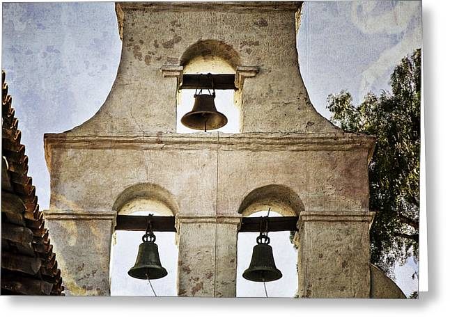 Bells Of Mission San Diego Greeting Card by Joan Carroll