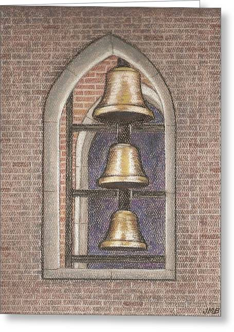 Mary Pastels Greeting Cards - Bells of St. Marys Greeting Card by Jeanne Beutler