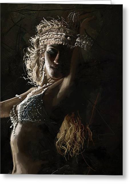 Dancer Art Greeting Cards - Belly Dancer 8  Greeting Card by Corporate Art Task Force